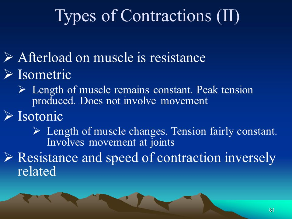 Types of Contractions (II)