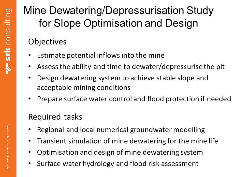 Mine Dewatering/Depressurisation Study for Slope Optimisation and Design