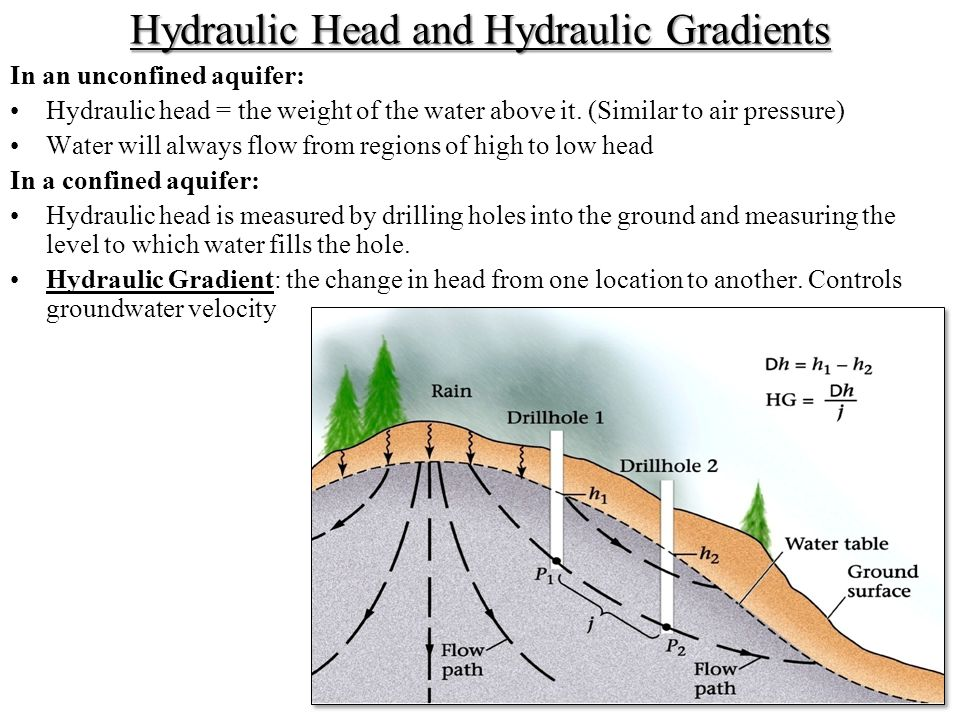Hydraulic Head and Hydraulic Gradients