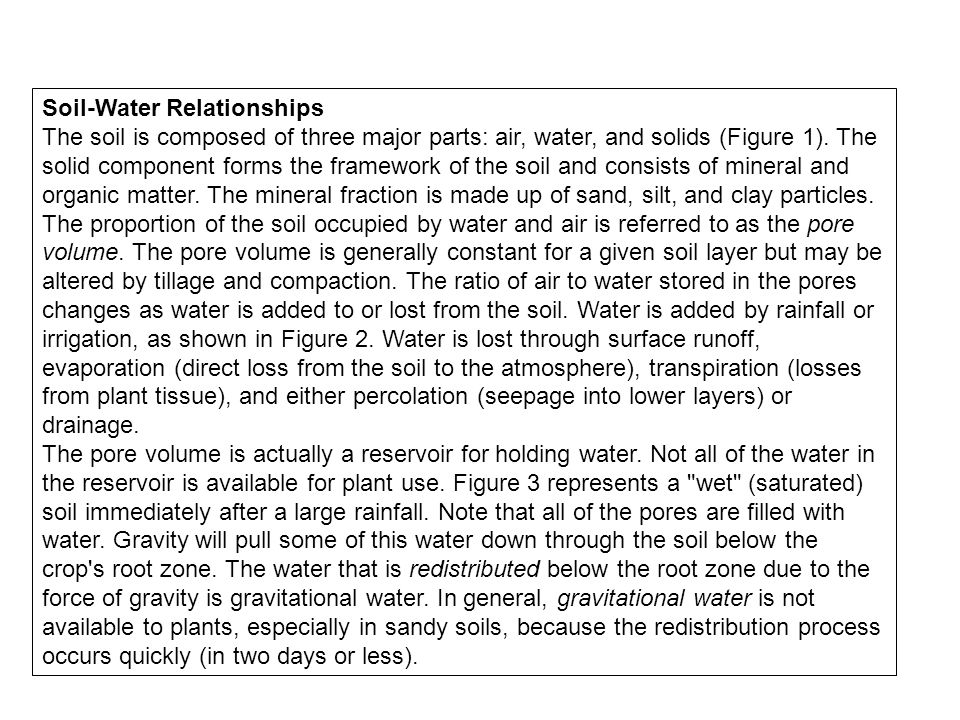 Soil-Water Relationships