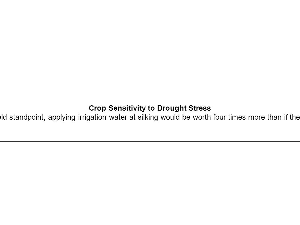 Crop Sensitivity to Drought Stress
