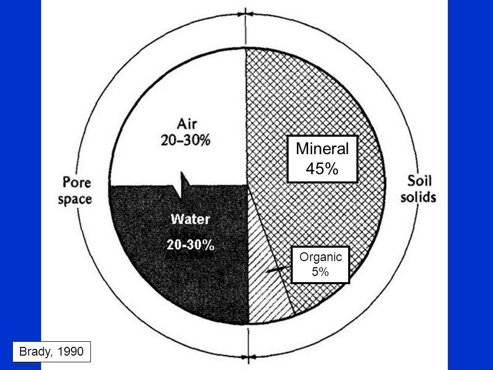 Mineral 45% Organic 5% Brady, 1990