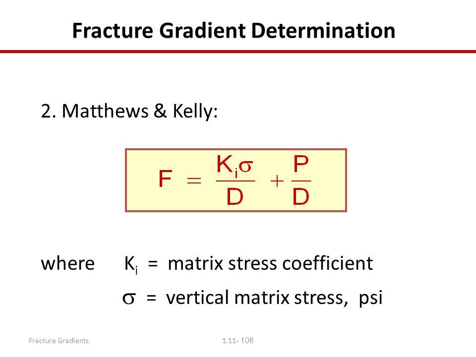 Fracture Gradient Determination