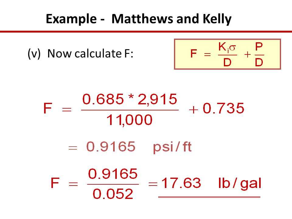 Example - Matthews and Kelly