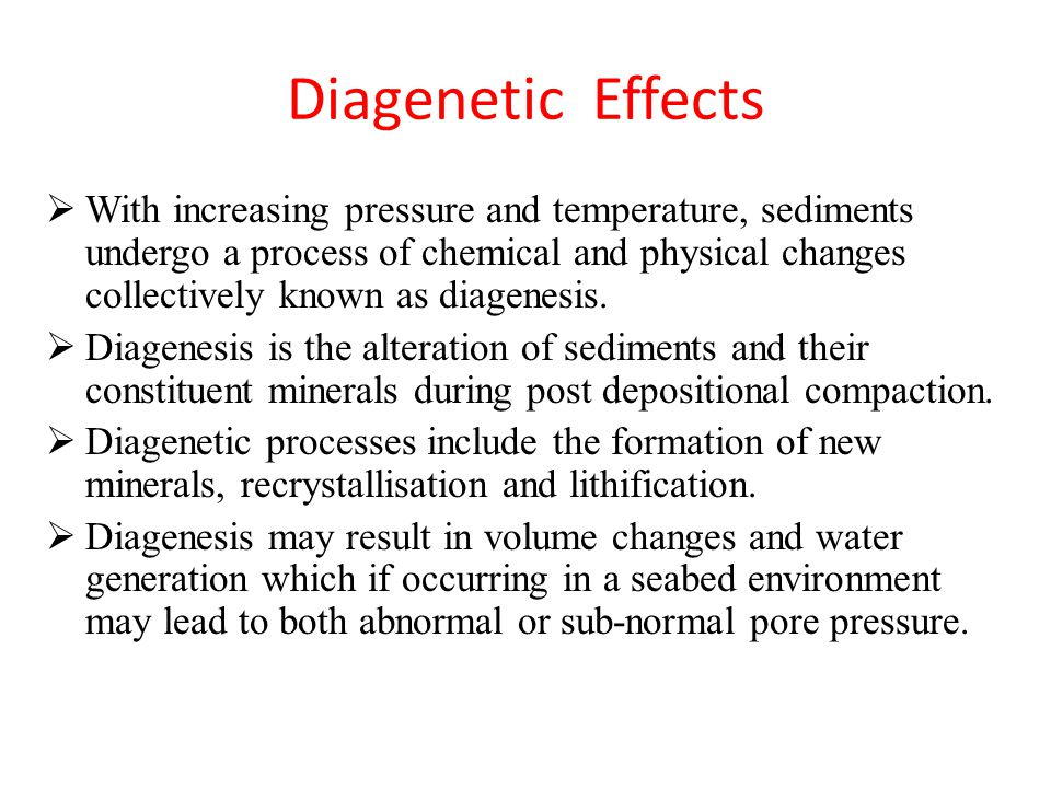 Diagenetic Effects