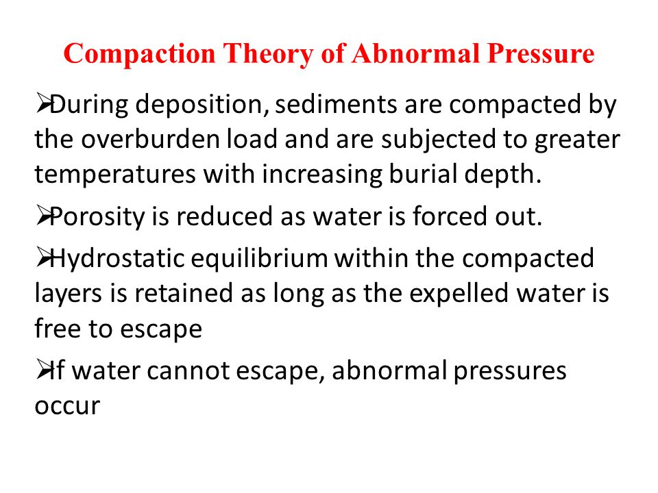 Compaction Theory of Abnormal Pressure