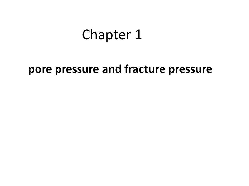 pore pressure and fracture pressure