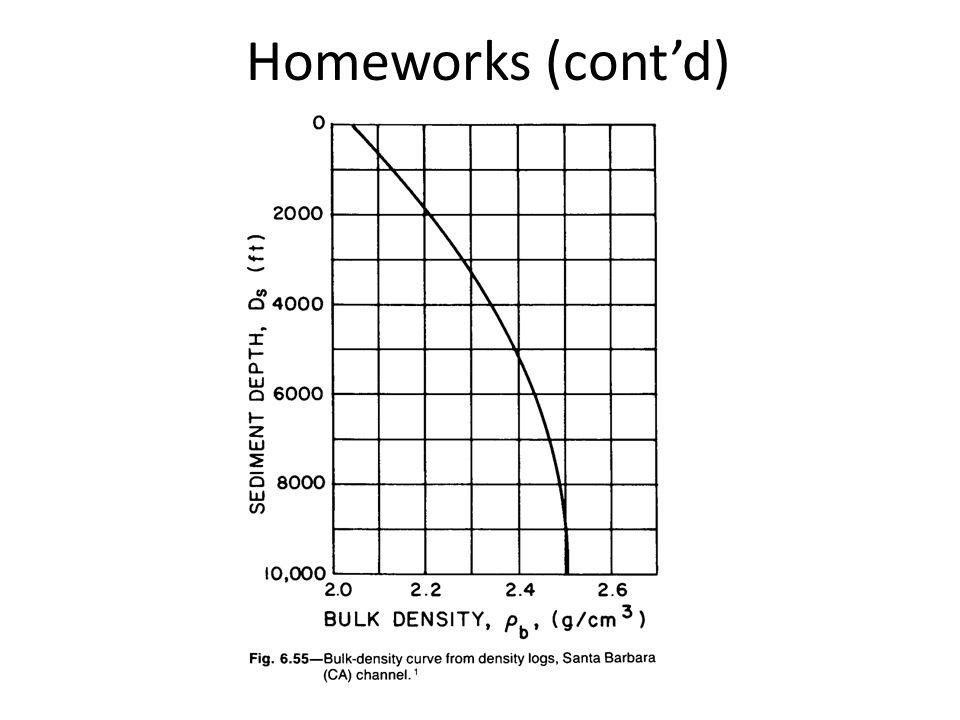 Homeworks (cont'd)