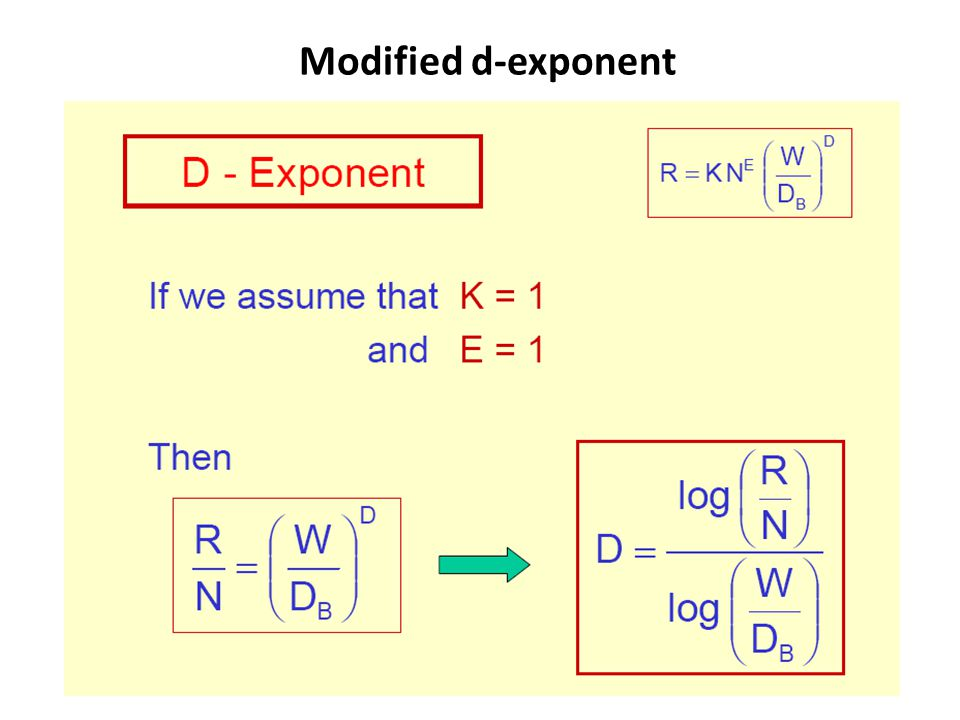 Modified d-exponent