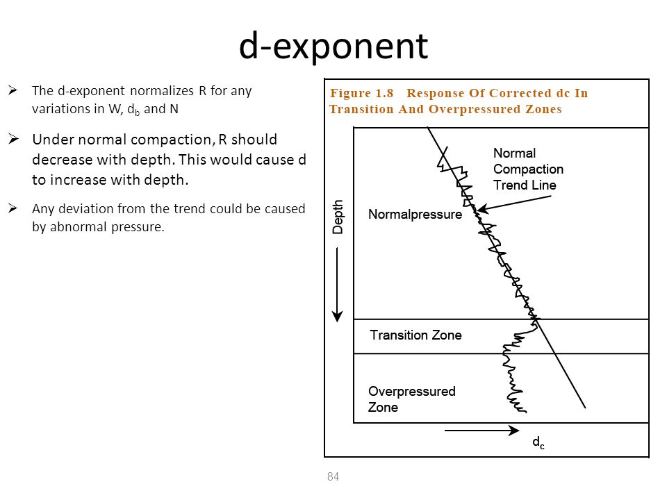 d-exponent The d-exponent normalizes R for any variations in W, db and N.