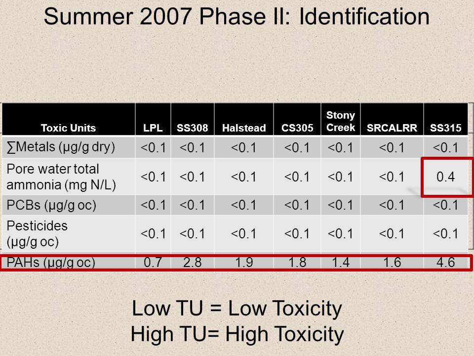 Summer 2007 Phase II: Identification