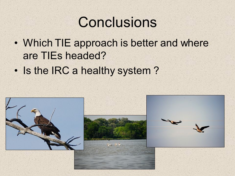 Conclusions Which TIE approach is better and where are TIEs headed