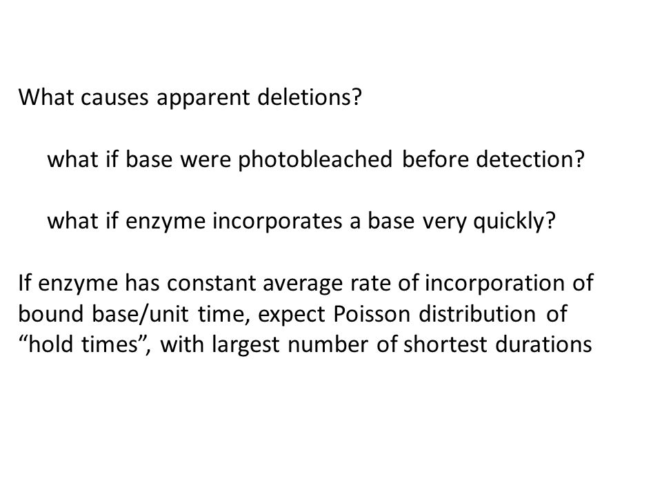 What causes apparent deletions