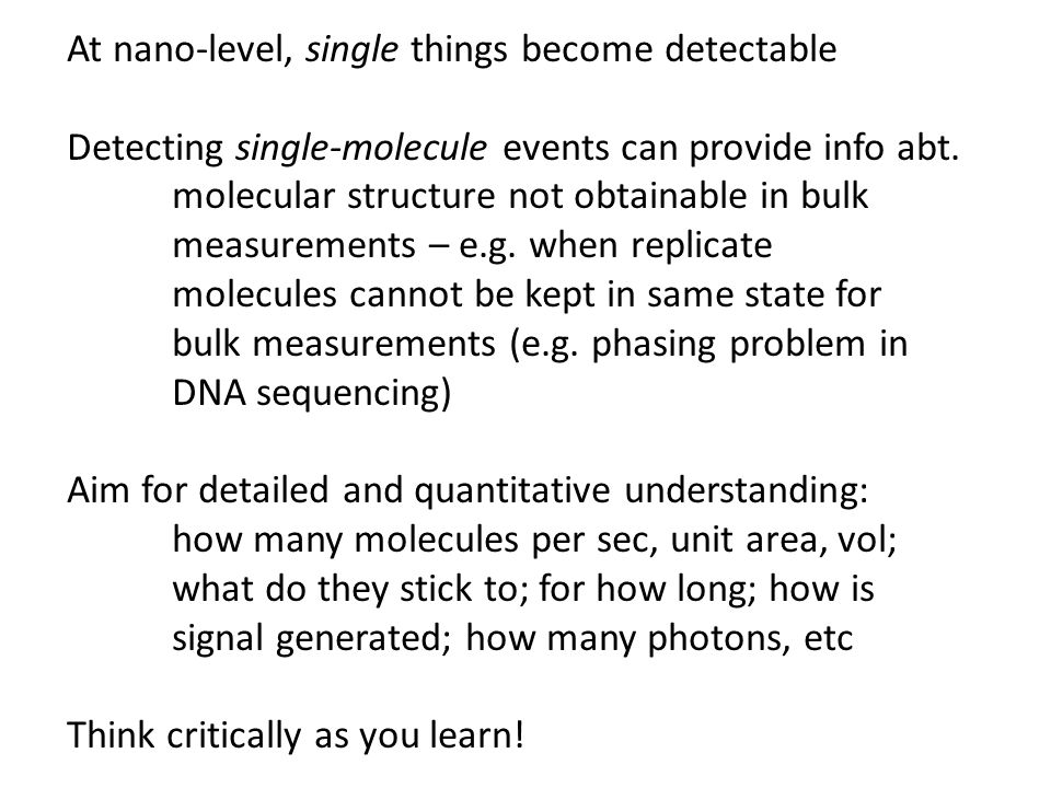 At nano-level, single things become detectable