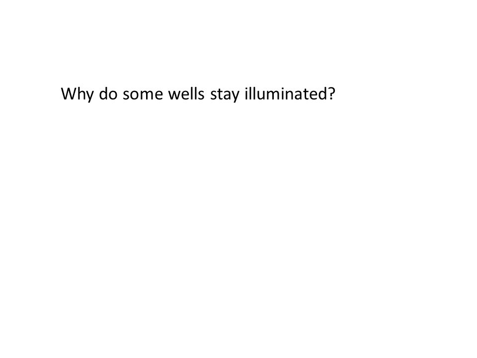 Why do some wells stay illuminated