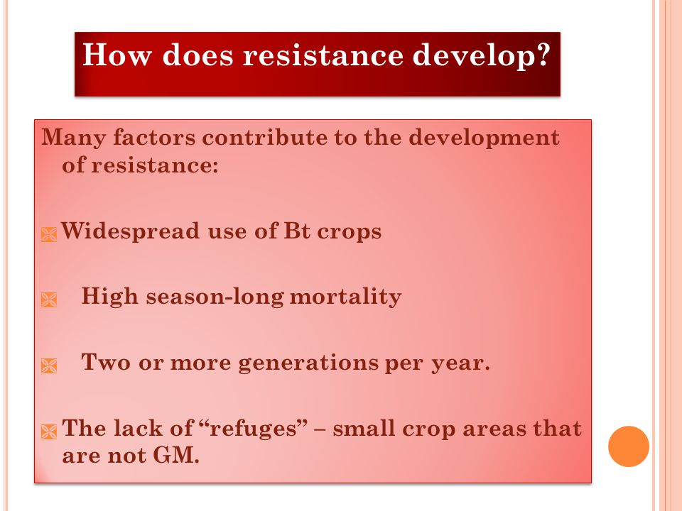 How does resistance develop