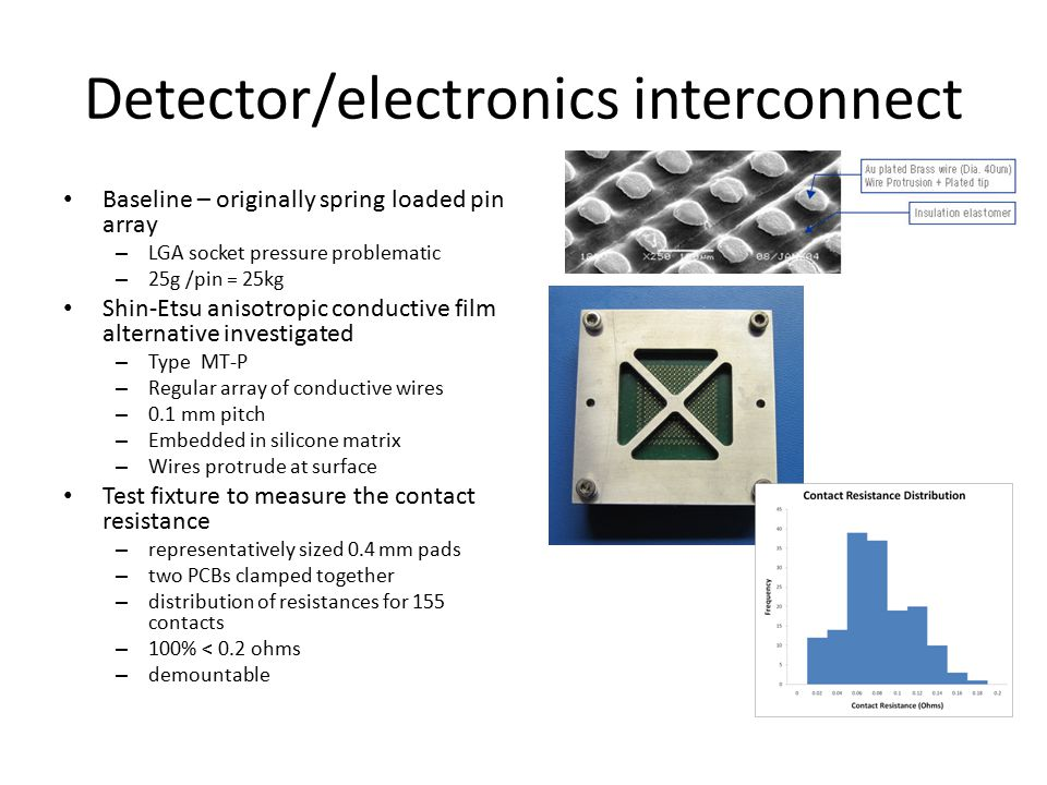 Detector/electronics interconnect