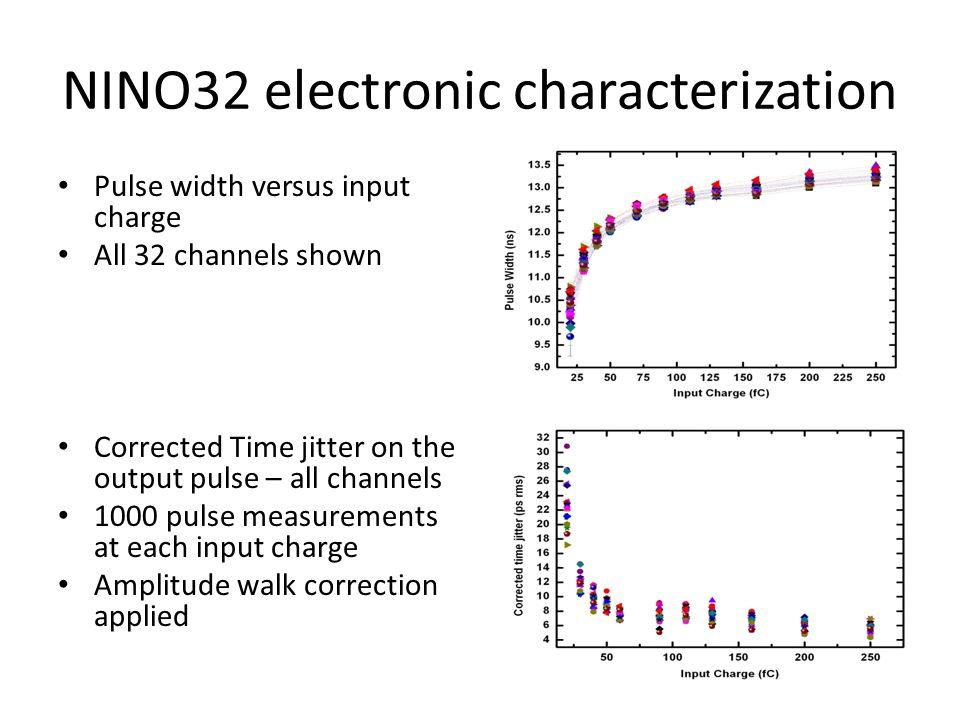 NINO32 electronic characterization
