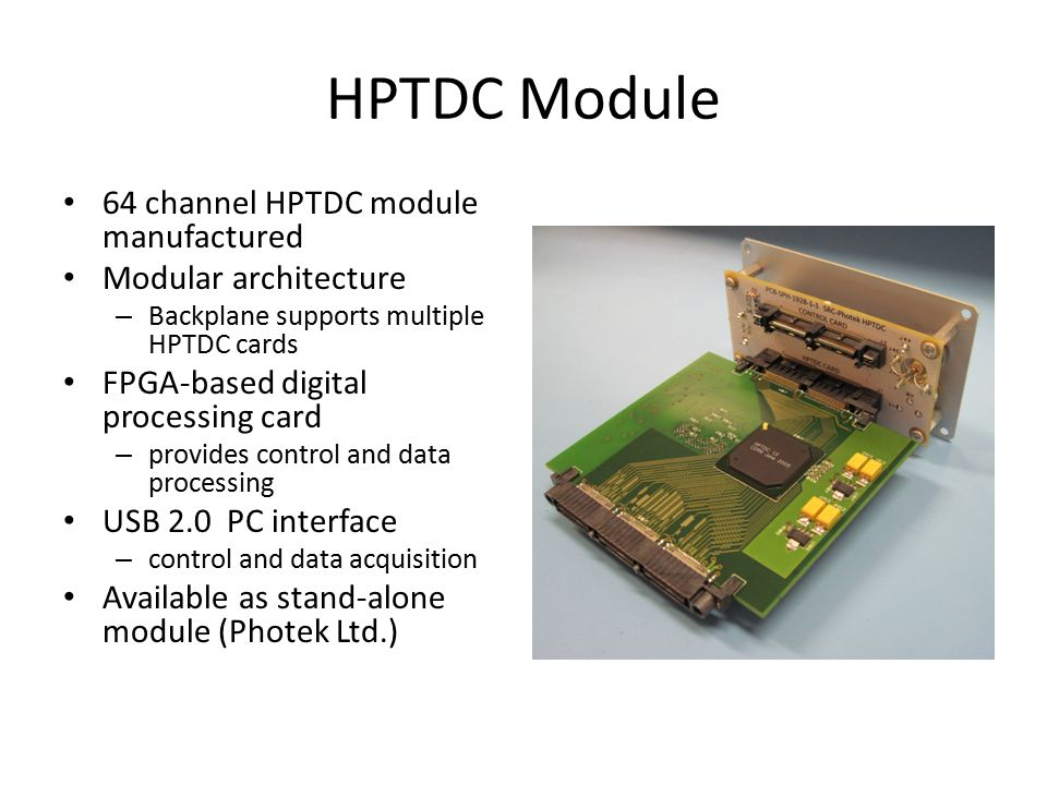 HPTDC Module 64 channel HPTDC module manufactured Modular architecture