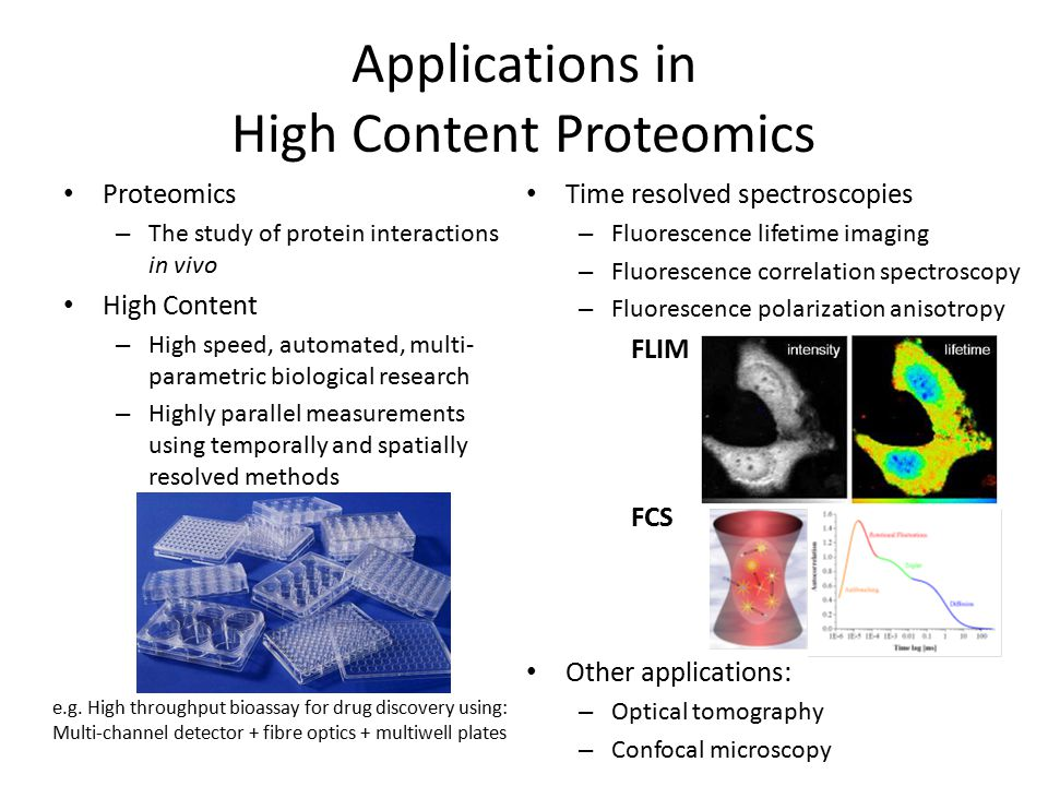 Applications in High Content Proteomics