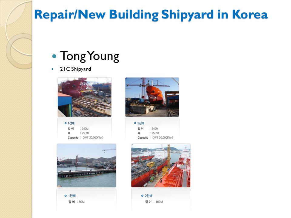 Repair/New Building Shipyard in Korea