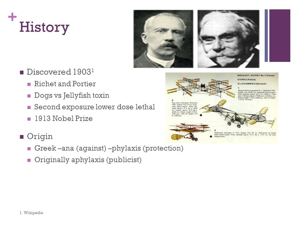 History Discovered 19031 Origin Richet and Portier