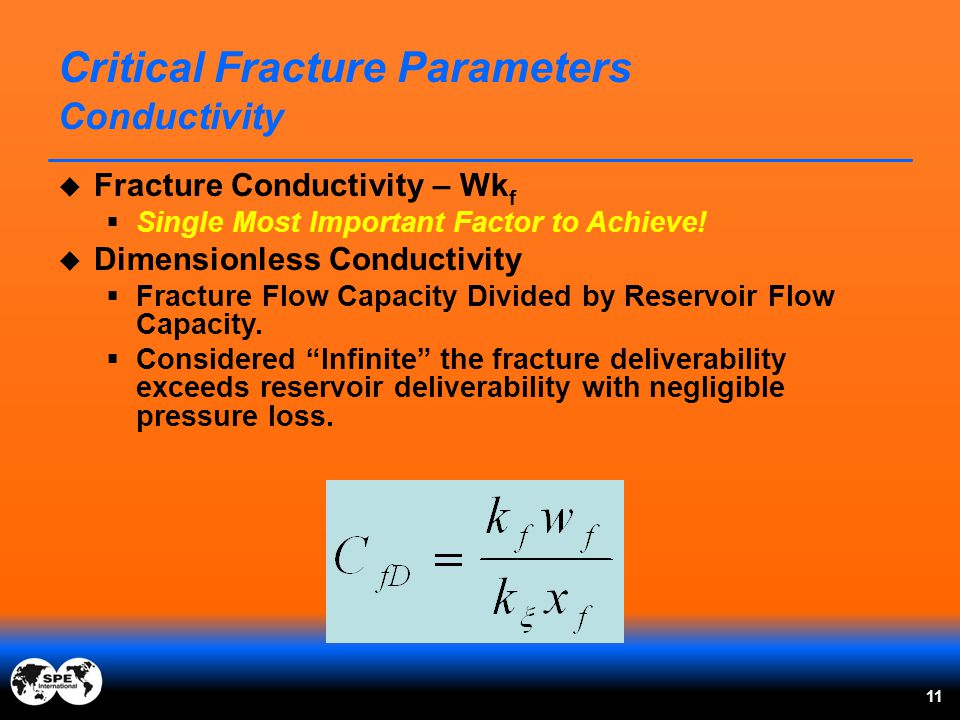 Critical Fracture Parameters Conductivity