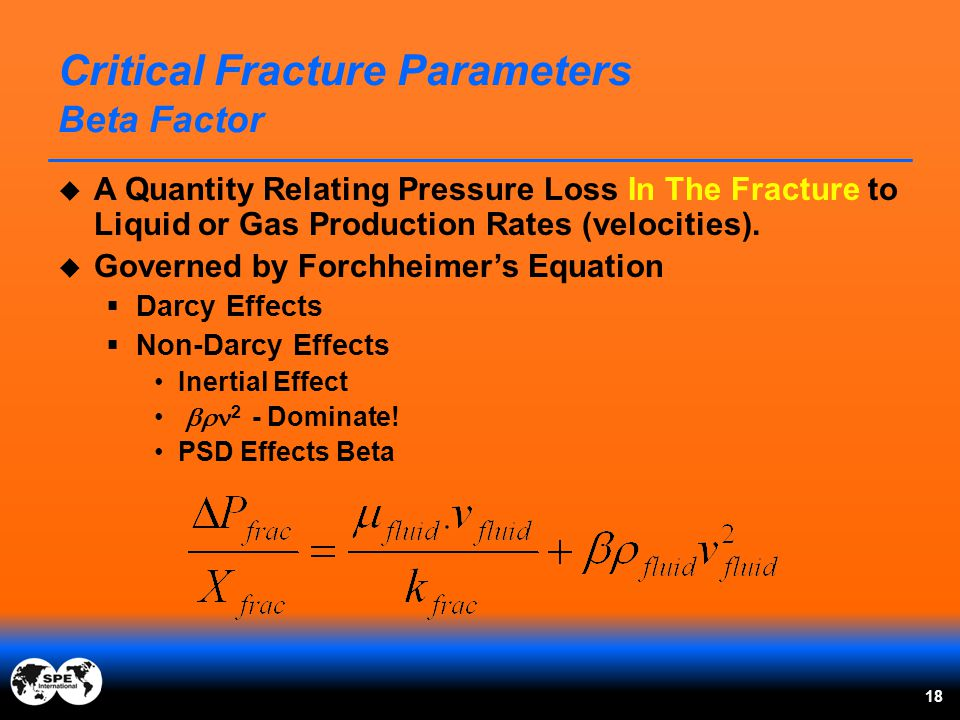 Critical Fracture Parameters Beta Factor
