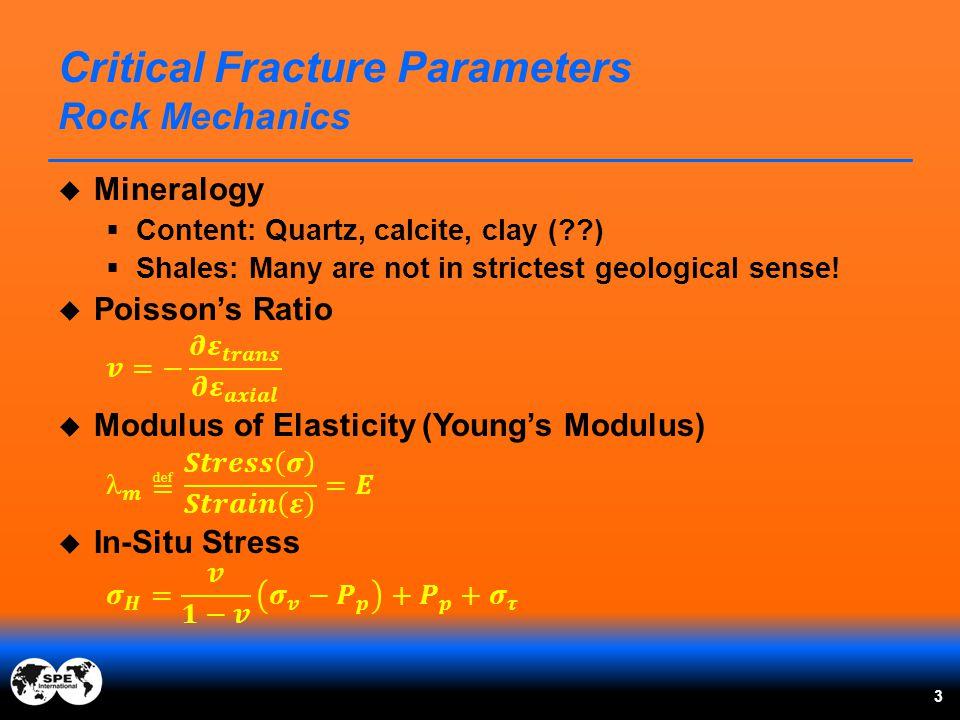 Critical Fracture Parameters Rock Mechanics