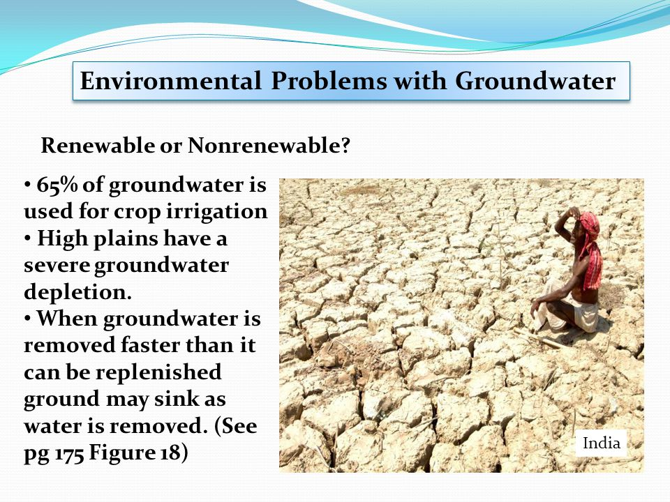 Environmental Problems with Groundwater