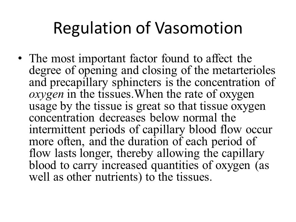 Regulation of Vasomotion