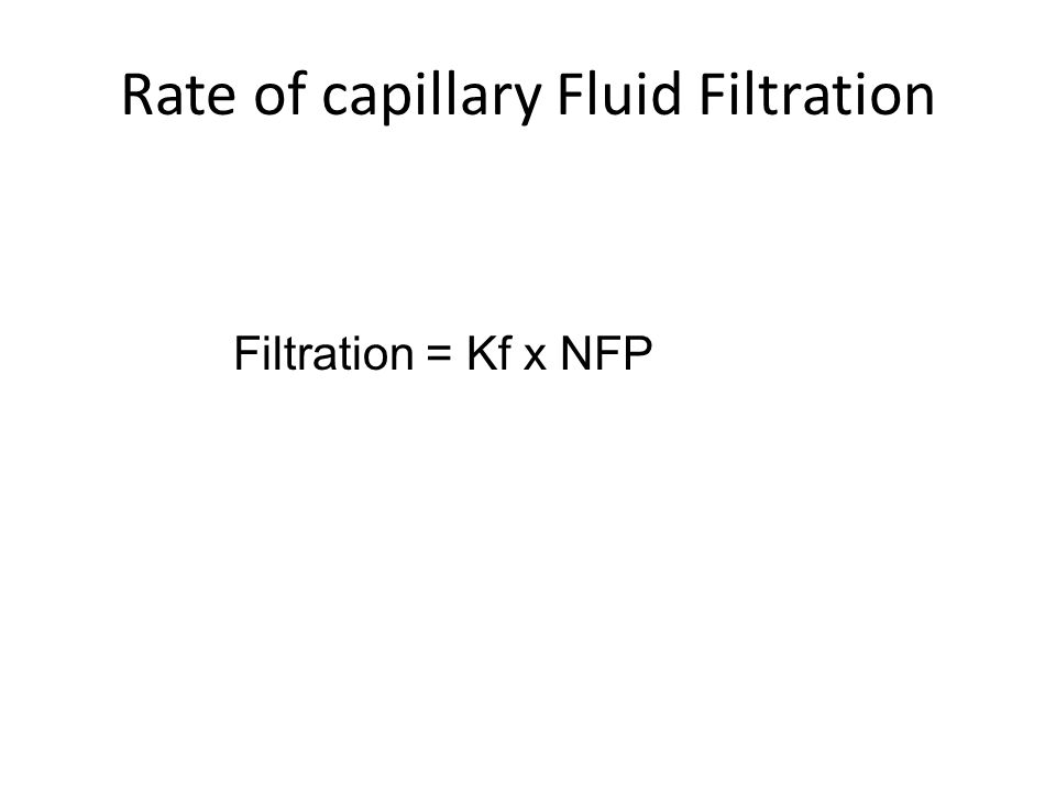 Rate of capillary Fluid Filtration
