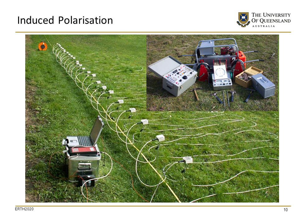 Induced Polarisation We see here some equipment that is used for DC resistivity and IP measurements.