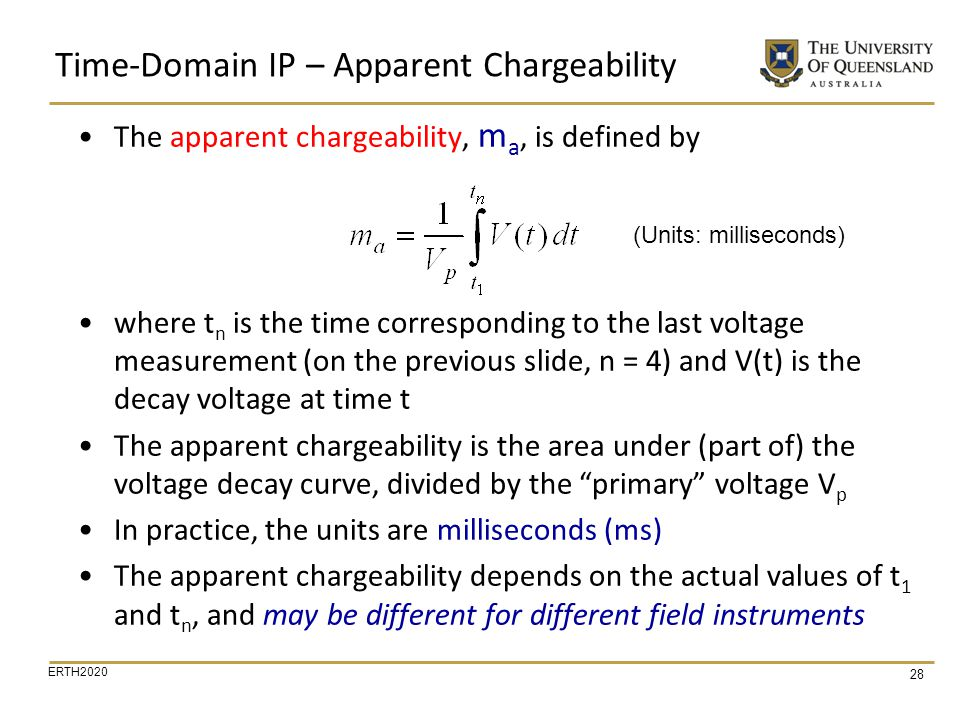 Time-Domain IP – Apparent Chargeability