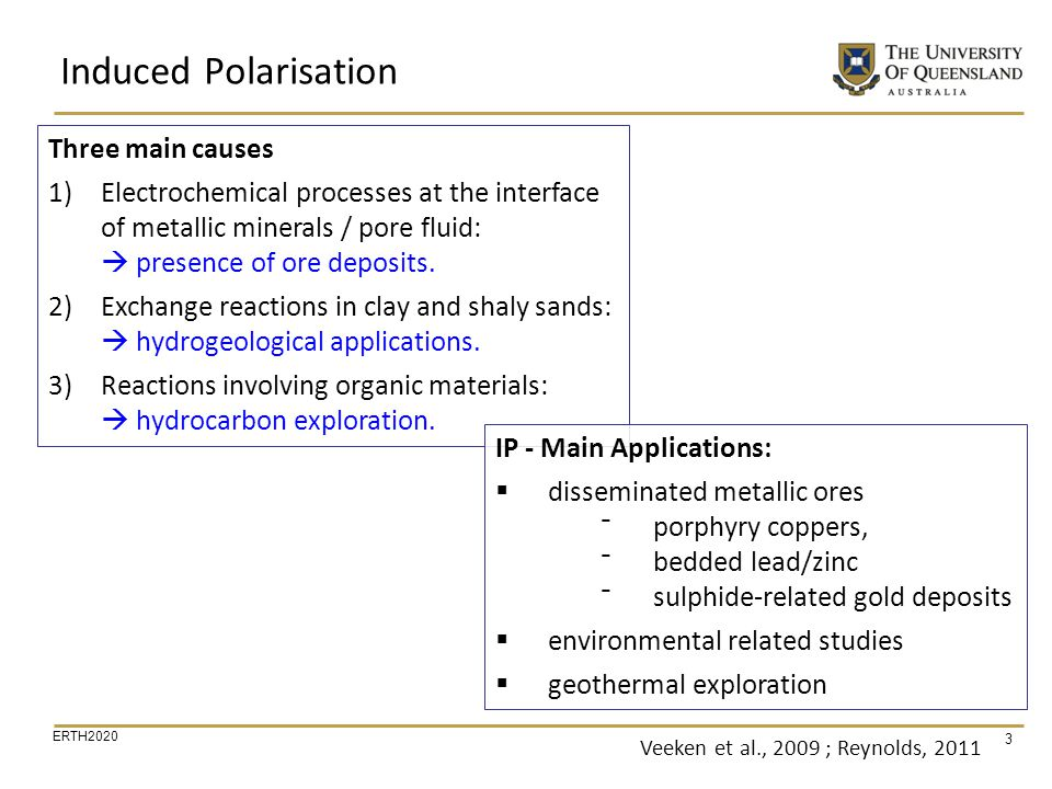 Induced Polarisation Three main causes