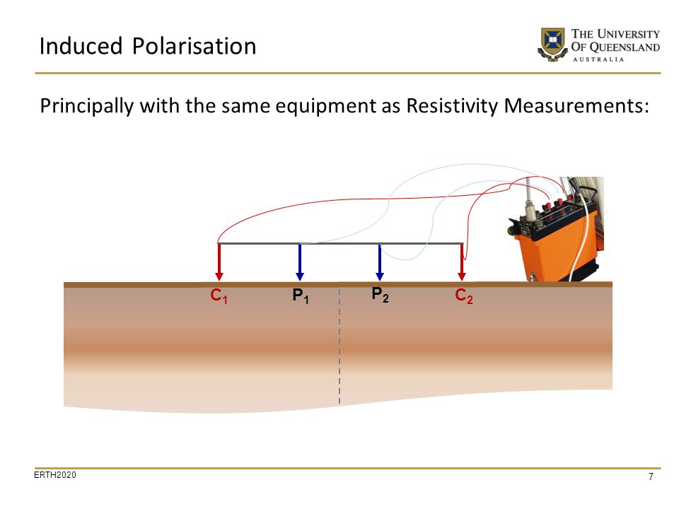 Principally with the same equipment as Resistivity Measurements: