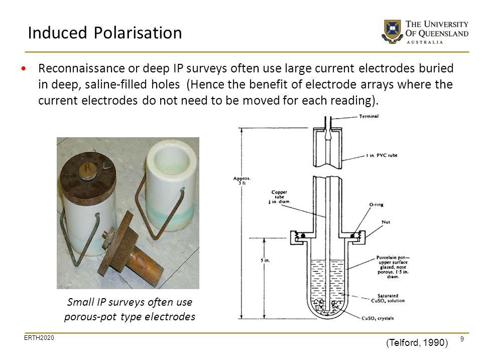 Small IP surveys often use porous-pot type electrodes