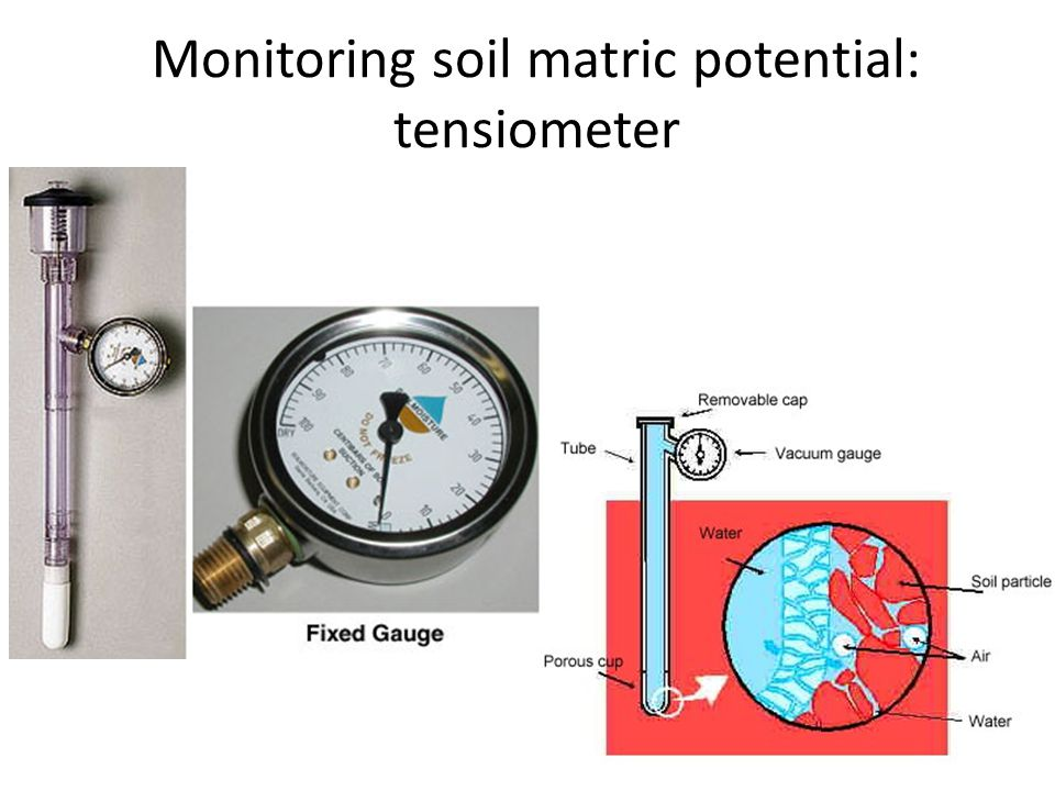 Monitoring soil matric potential: tensiometer