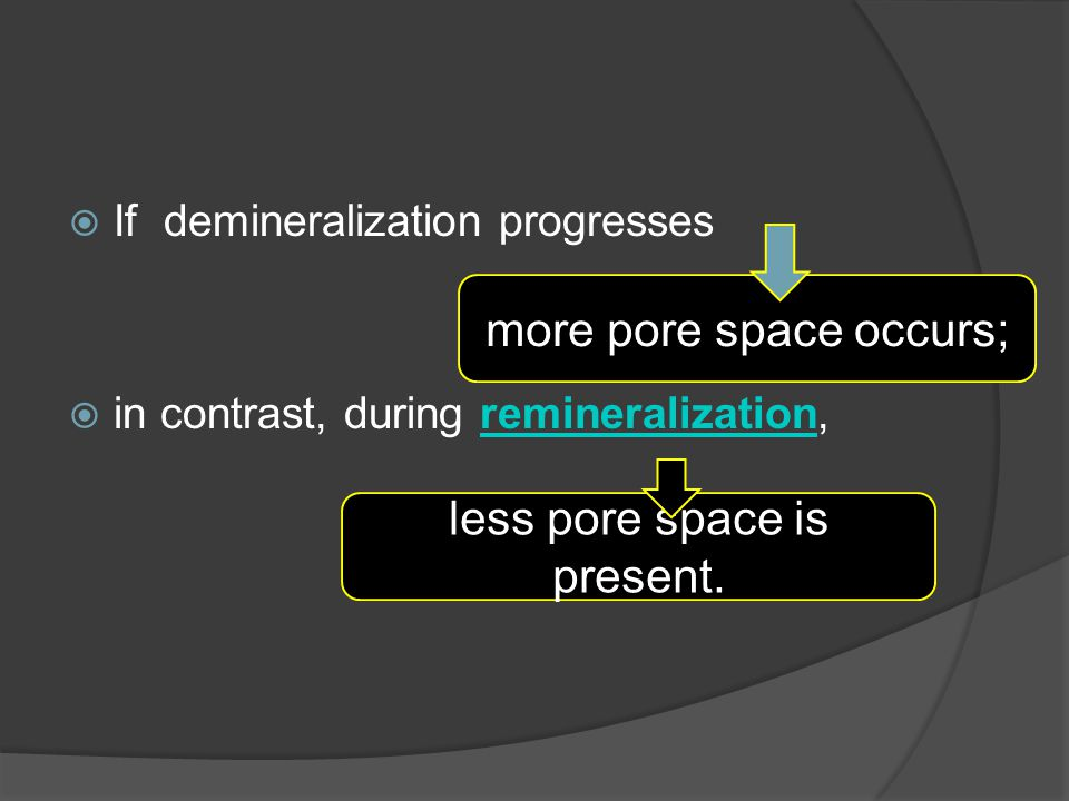 more pore space occurs;