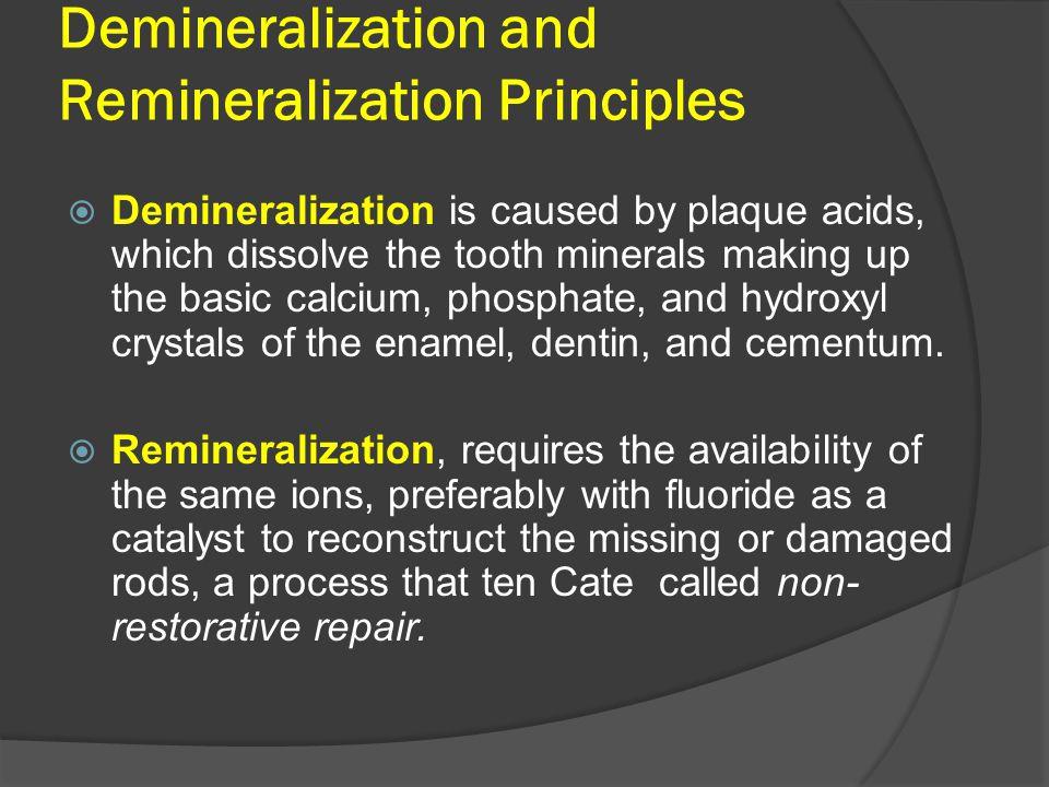 Demineralization and Remineralization Principles