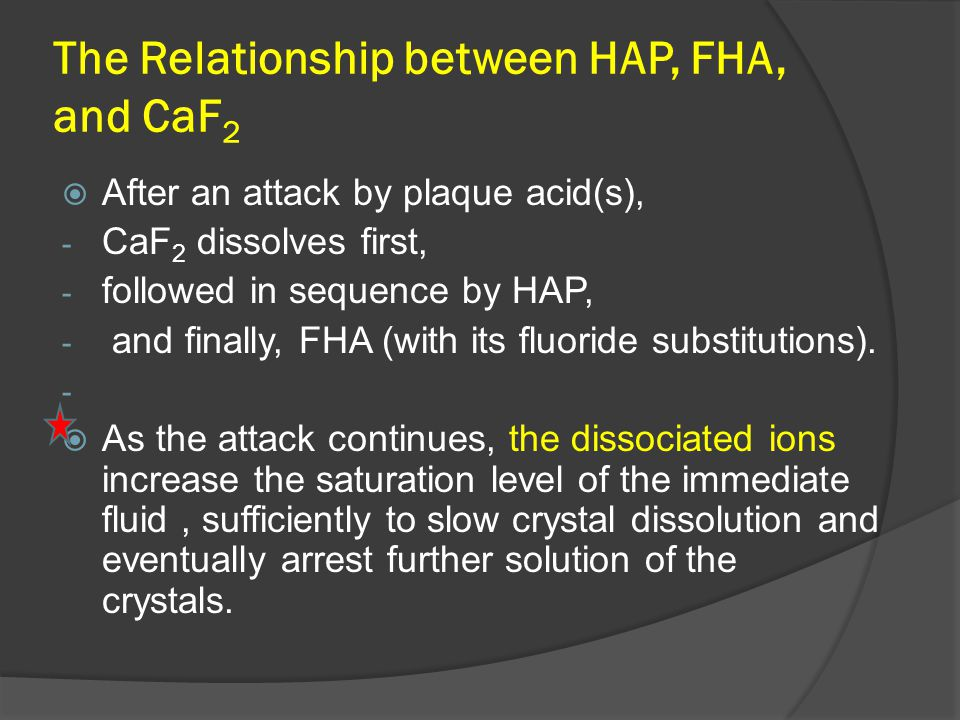 The Relationship between HAP, FHA, and CaF2