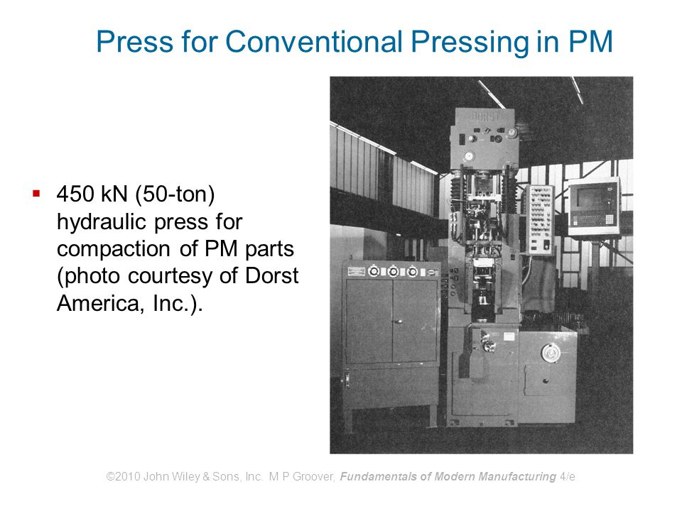 Press for Conventional Pressing in PM