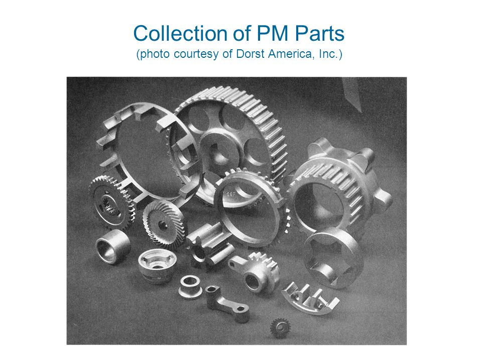 Collection of PM Parts (photo courtesy of Dorst America, Inc.)