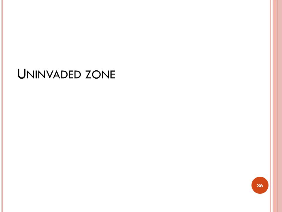 Uninvaded zone