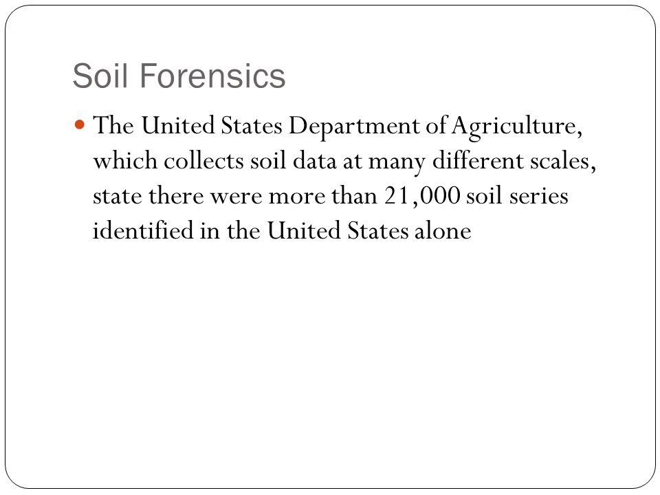 Soil Forensics