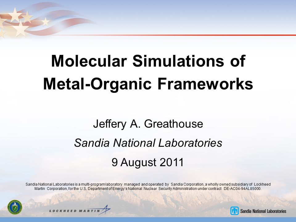 Molecular Simulations of Metal-Organic Frameworks