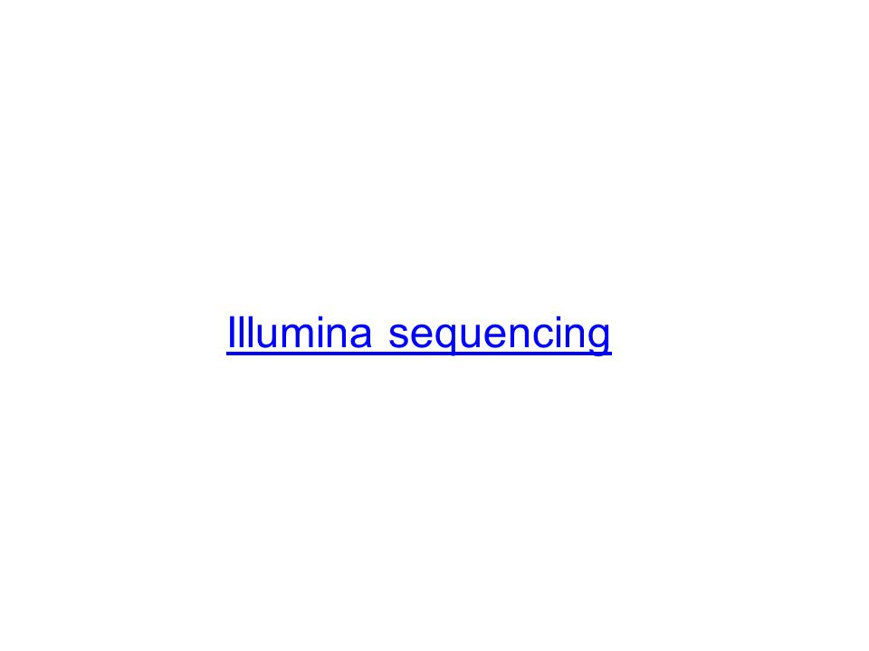 Illumina sequencing