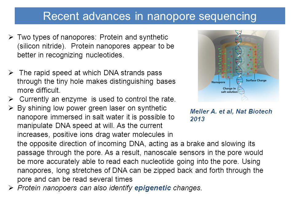 Recent advances in nanopore sequencing