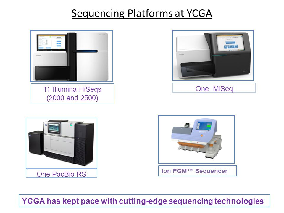 Sequencing Platforms at YCGA