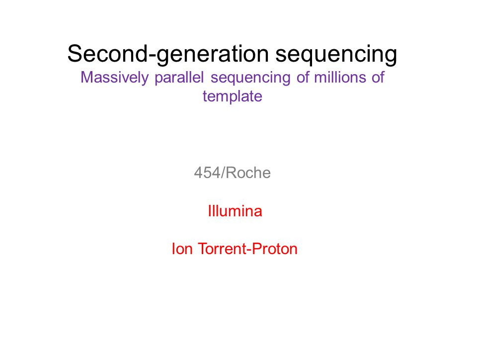 Second-generation sequencing